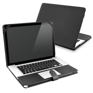 BasAcc Black Leather Case for Apple MacBook Pro 13-inch