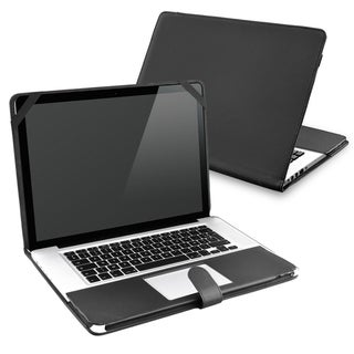 INSTEN Black Leather Laptop Case Cover for Apple MacBook Pro 13-inch