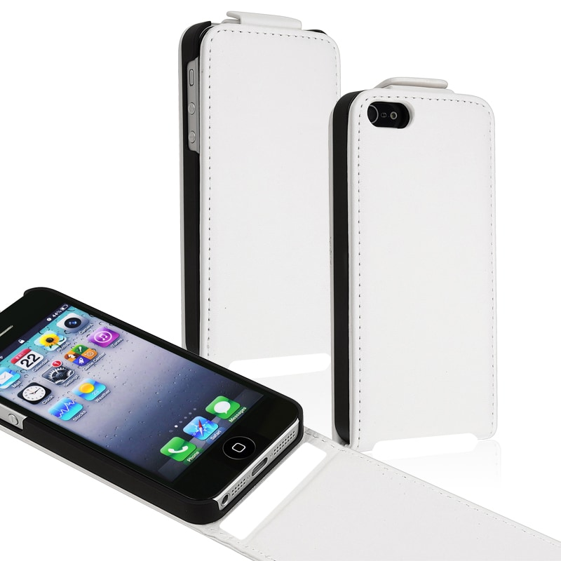 BasAcc White Snap-on Leather Case for Apple iPhone 5