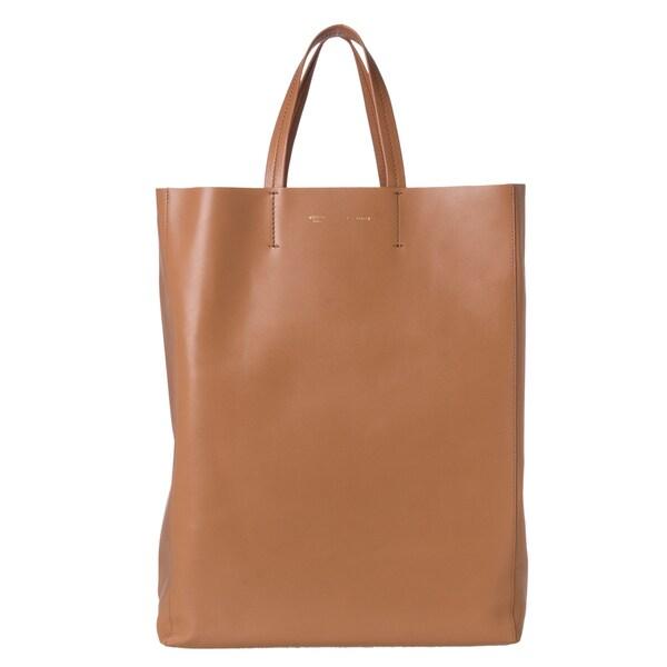 Celine Large Tan Leather Tote Bag