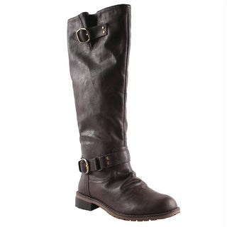 Elegant by Beston Women's 'Dillian-7' Brown Riding Boots