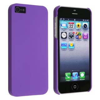 BasAcc Purple Snap-on Rubber Coated Case for Apple iPhone 5