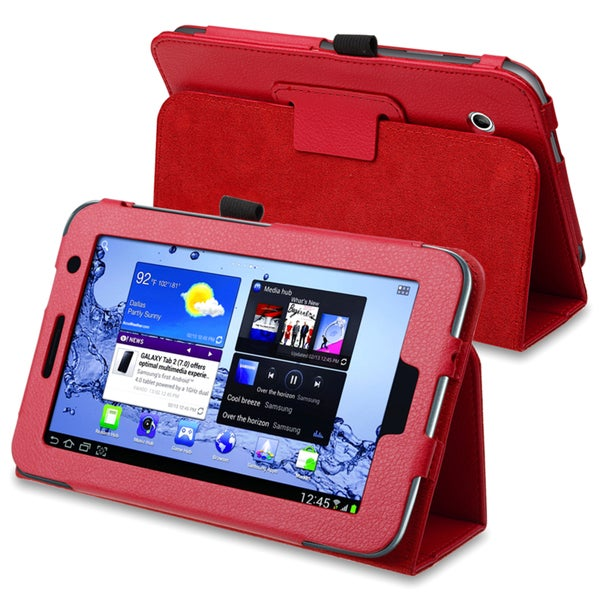 INSTEN Leather Tablet Case Cover for Samsung Galaxy Tab 2 7.0 P3100/ P3110/ P3113