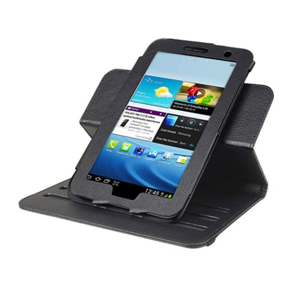 INSTEN Black Swivel Tablet Case Cover for Samsung Galaxy Tab 2 7-inch P3100/ P3113