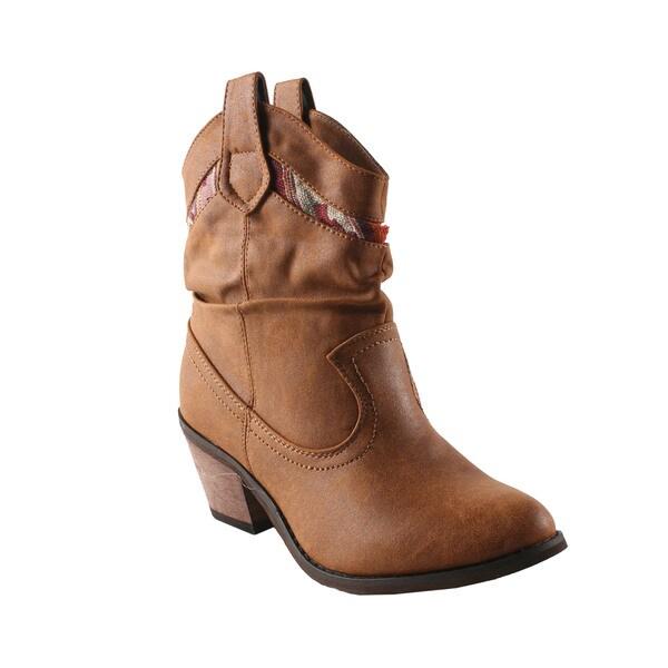 Refresh by Beston Women's 'Makay-01' Tan Boots