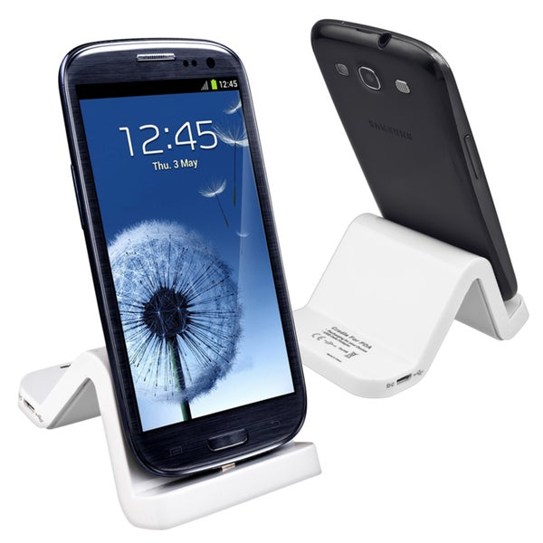 INSTEN White S-shape Cradle for Samsung Galaxy S III/ S3 i9300