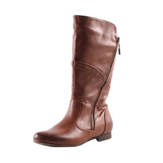Elegant by Beston Women's 'Meley-4' Cognac Boots