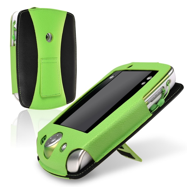 INSTEN Green/ Black Leather Phone Case Cover for LeapFrog LeapPad 2
