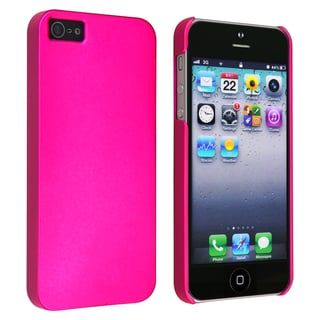 BasAcc Hot Pink Snap-on Rubber Coated Case for Apple iPhone 5
