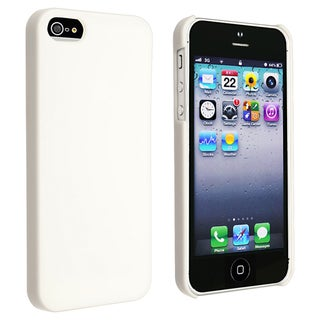 INSTEN White Ice-cream Snap-on Phone Case Cover for Apple iPhone 5/ 5S