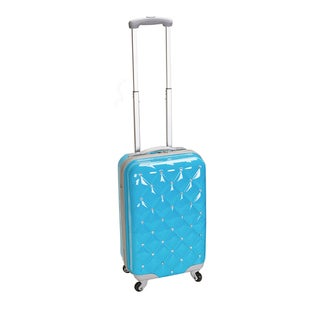Rockland Diamond 20-inch Lightweight Hardside Turquoise Spinner Carry-on Luggage
