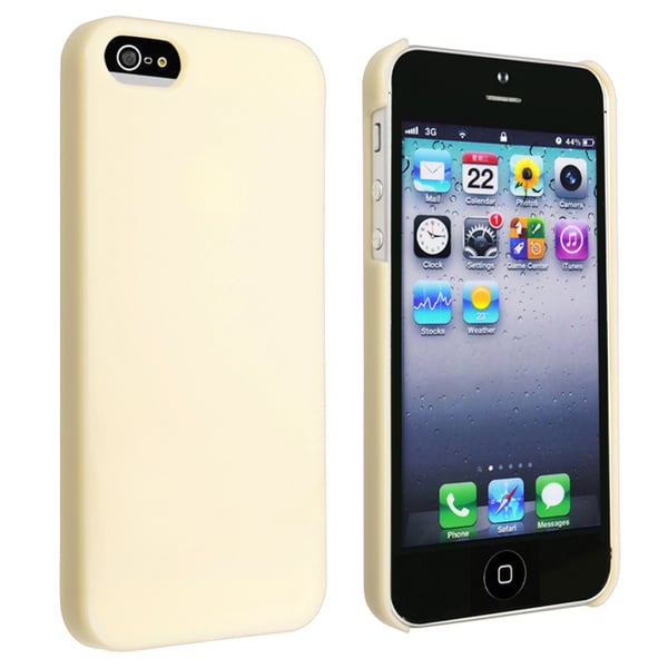 INSTEN Yellow Ice-cream Snap-on Phone Case Cover for Apple iPhone 5
