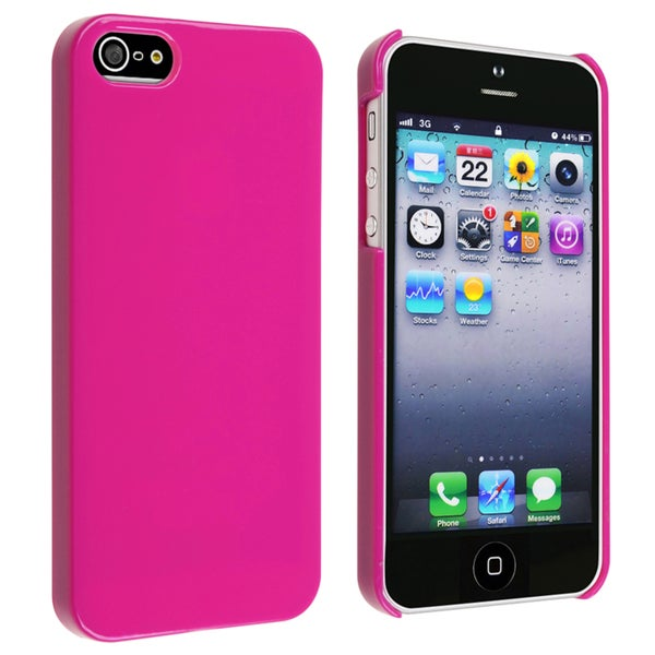 INSTEN Hot Pink Ice-cream Snap-on Phone Case Cover for Apple iPhone 5