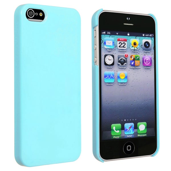 INSTEN Blue Ice-cream Snap-on Phone Case Cover for Apple iPhone 5/ 5S