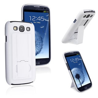 INSTEN White Snap-on Rubber Coated Case Cover for Samsung Galaxy SIII / S3