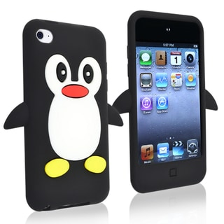 BasAcc Black Silicone Skin Case for Apple� iPod Touch Generation 4