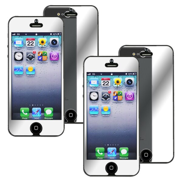 INSTEN Mirror Screen Protector for Apple iPhone 5 (Pack of 2)