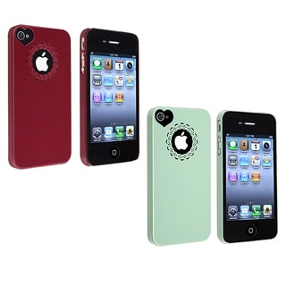 BasAcc Mint Green Sweet Heart Snap-on Case for Apple? iPhone 4/ 4S
