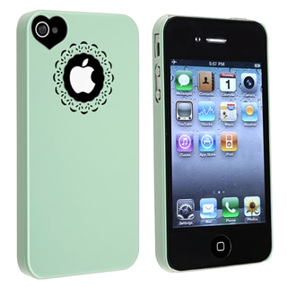 BasAcc Mint Green Sweet Heart Snap-on Case for Apple� iPhone 4/ 4S