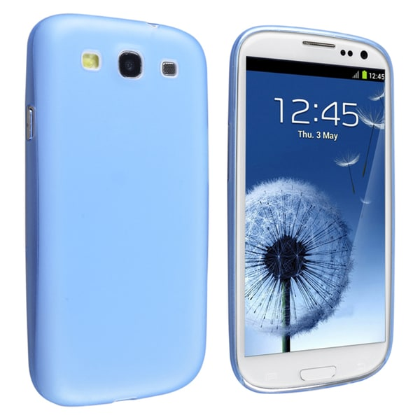 BasAcc Clear Blue Slim Snap-on Case for Samsung© Galaxy S III/ S3