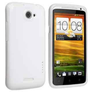 BasAcc White Jelly TPU Rubber Skin Case for HTC One X
