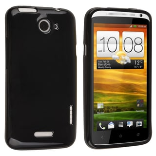 BasAcc Black Jelly TPU Rubber Skin Case for HTC One X