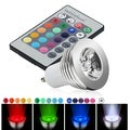 BasAcc Warm White GU10 LED Light Bulb with Remte Infrared Remote