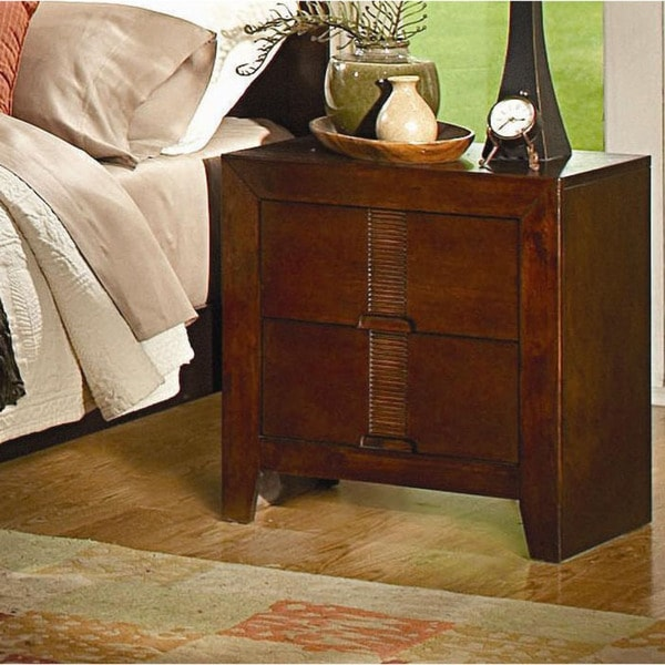 Leon Warm Brown Two-drawer Nightstand