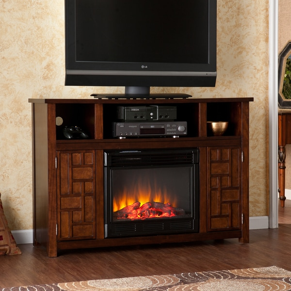 Leone Espresso Electric Media Fireplace
