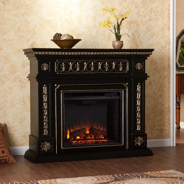 Harper Blvd Alessia Black Electric Fireplace