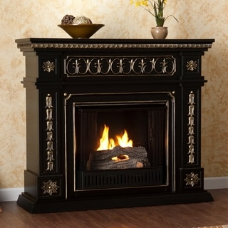 Upton Home Alessia Black Gel Fuel Fireplace