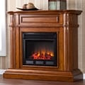 Jocelin Walnut Electric Fireplace