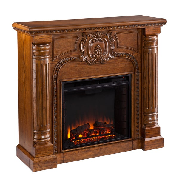 Upton Home Charnell Oak Electric Fireplace