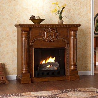 Charnell Oak Gel Fuel Fireplace