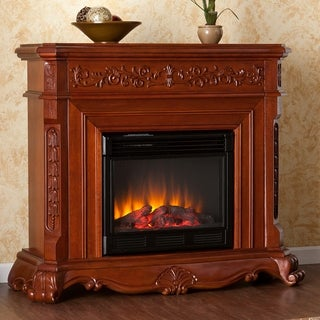 Burke Mahogany Electric Fireplace