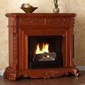 Burke Mahogany Gel Fuel Fireplace