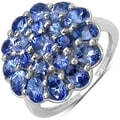 Malaika Sterling Silver 2 3/5ct TGW Tanzanite Ring