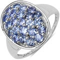Malaika Sterling Silver 1 3/5ct TGW Tanzanite Ring