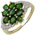 Malaika 14k Gold over Silver 1 2/5ct TGW Chrome Diopside Ring