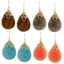 KC Signatures Gold-plated Tear Drop Encased Earrings