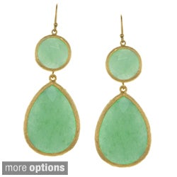 KC Signatures Gold-plated Pear Shape Double Drop Earrings