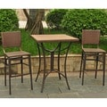 Barcelona 32-inch Square Bar Height Bistro Table with 2 Chairs