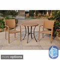 Barcelona 28-inch Round Outdoor Bistro Set with 2 Armchairs