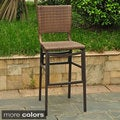 Barcelona Resin Wicker Outdoor Bar Height Stools (Set of 2)