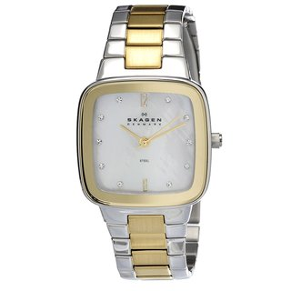 Skagen Women's 658SSGX Classic Square Two-tone Bracelet Watch