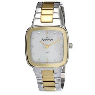 Skagen Women's Square Two-tone Steel Watch