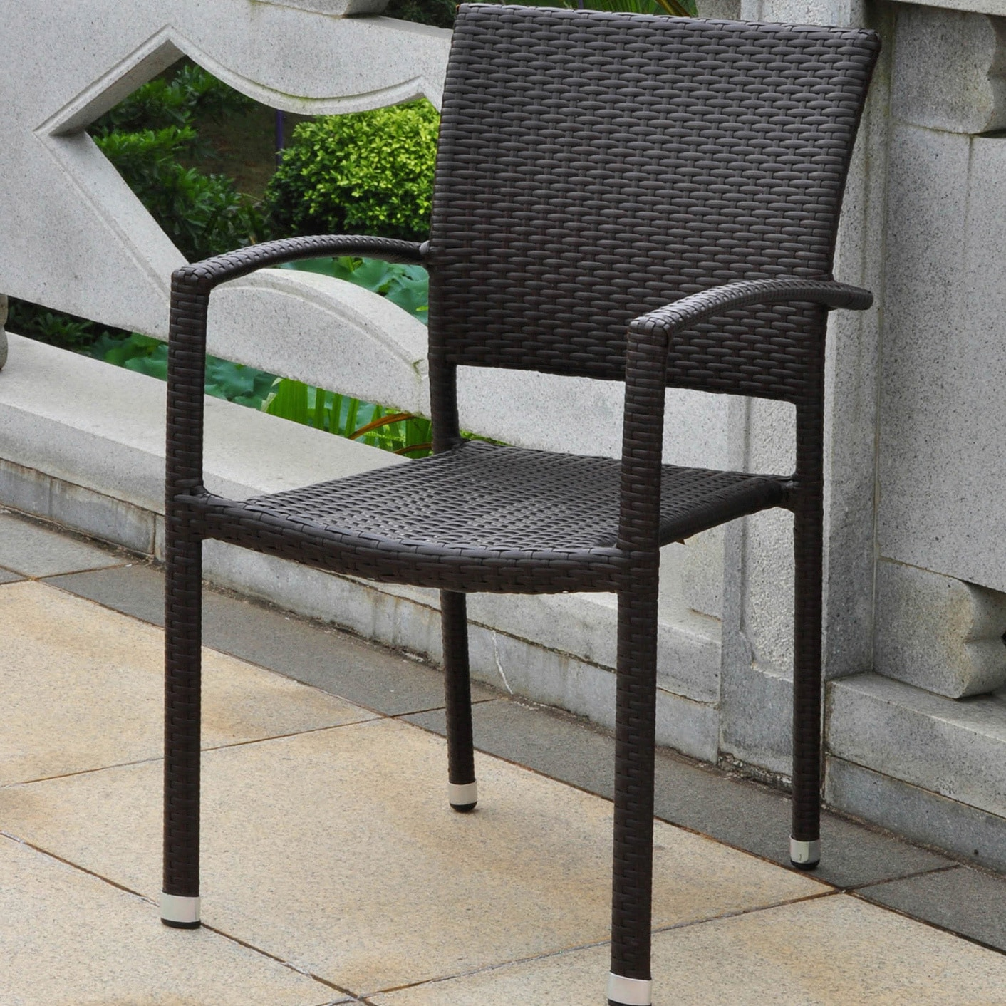 International Caravan Barcelona Resin Wicker/Aluminum Outdoor Stackable Armchair at Sears.com