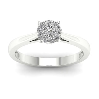 De Couer 10k White Gold 1/4 to 1/2ct TDW Diamond Ring (H-I, I2)