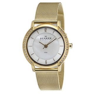 Skagen Women's Goldtone Stainless Steel Mesh Watch