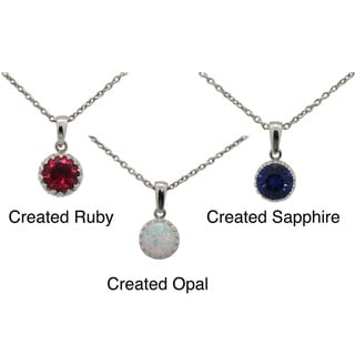 Tiara Collection Sterling Silver 8mm Round Gemstone Crown Necklace